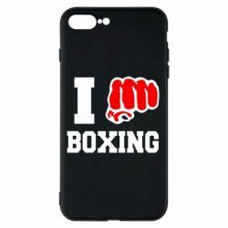 Чехол для iPhone 8 Plus I love boxing