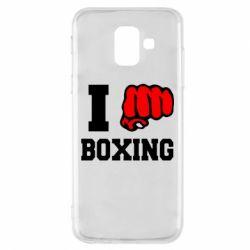 Чехол для Samsung A6 2018 I love boxing