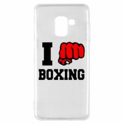 Чехол для Samsung A8 2018 I love boxing