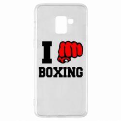 Чехол для Samsung A8+ 2018 I love boxing