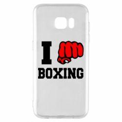Чехол для Samsung S7 EDGE I love boxing