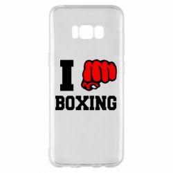 Чехол для Samsung S8+ I love boxing