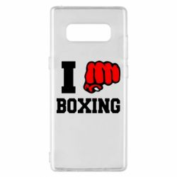 Чехол для Samsung Note 8 I love boxing