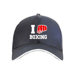 кепка I love boxing