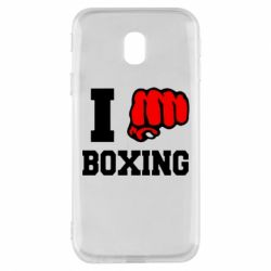 Чехол для Samsung J3 2017 I love boxing