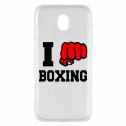 Чехол для Samsung J5 2017 I love boxing