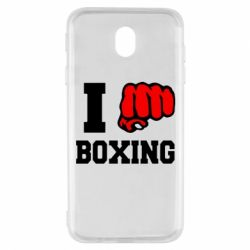 Чехол для Samsung J7 2017 I love boxing