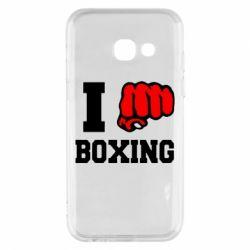 Чехол для Samsung A3 2017 I love boxing
