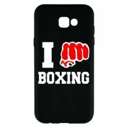 Чехол для Samsung A7 2017 I love boxing