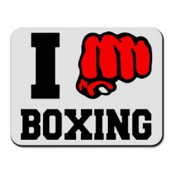 Коврик для мыши I love boxing - FatLine