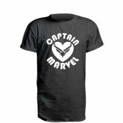 Подовжена футболка I love Captain Marvel