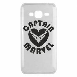 Чохол для Samsung J3 2016 I love Captain Marvel