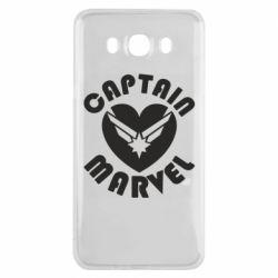 Чохол для Samsung J7 2016 I love Captain Marvel