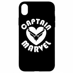 Чохол для iPhone XR I love Captain Marvel