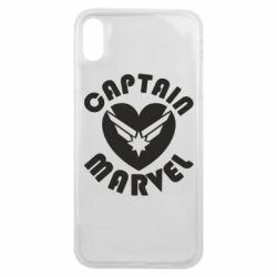Чохол для iPhone Xs Max I love Captain Marvel