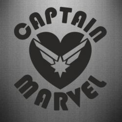 Наклейка I love Captain Marvel