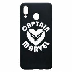 Чохол для Samsung A20 I love Captain Marvel