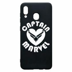 Чохол для Samsung A30 I love Captain Marvel