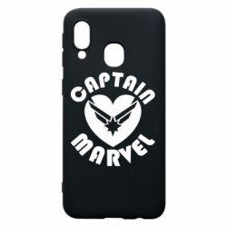 Чохол для Samsung A40 I love Captain Marvel