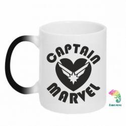 Кружка-хамелеон I love Captain Marvel