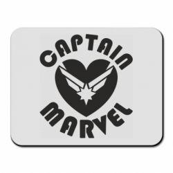 Килимок для миші I love Captain Marvel