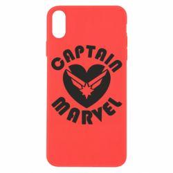 Чохол для iPhone X/Xs I love Captain Marvel