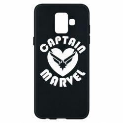 Чохол для Samsung A6 2018 I love Captain Marvel