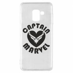 Чохол для Samsung A8 2018 I love Captain Marvel