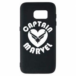 Чохол для Samsung S7 I love Captain Marvel