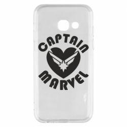 Чохол для Samsung A3 2017 I love Captain Marvel