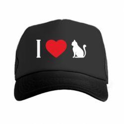 Кепка-тракер I love cat