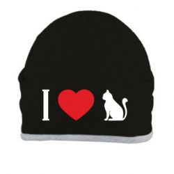 Шапка I love cat