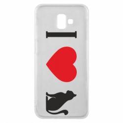 Чохол для Samsung J6 Plus 2018 I love cat