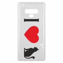 Чохол для Samsung Note 9 I love cat