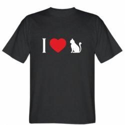 Чоловіча футболка I love cat