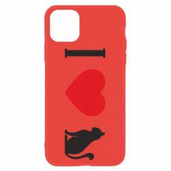 Чохол для iPhone 11 I love cat