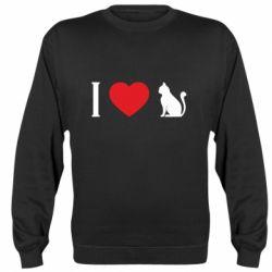 Реглан (світшот) I love cat