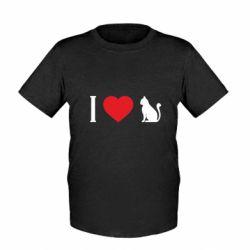 Дитяча футболка I love cat