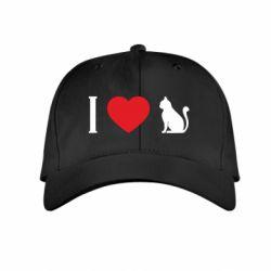 Дитяча кепка I love cat
