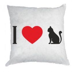Подушка I love cat