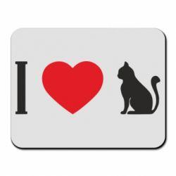 Килимок для миші I love cat