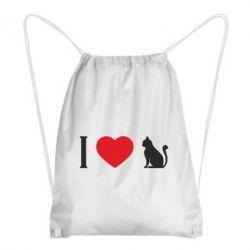 Рюкзак-мішок I love cat