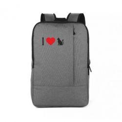Рюкзак для ноутбука I love cat