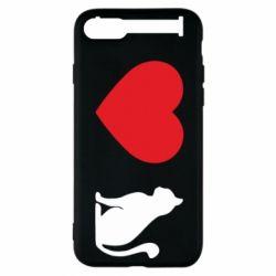 Чохол для iPhone 7 I love cat