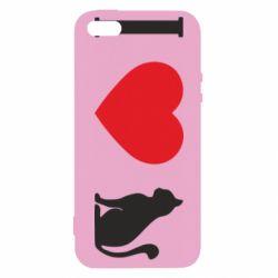 Чохол для iphone 5/5S/SE I love cat