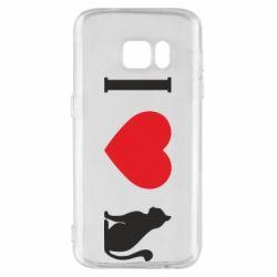 Чохол для Samsung S7 I love cat