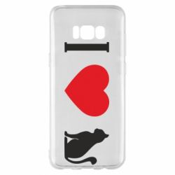 Чохол для Samsung S8+ I love cat