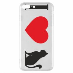 Чохол для iPhone 8 Plus I love cat