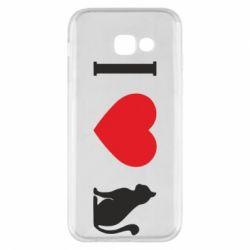 Чохол для Samsung A5 2017 I love cat