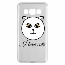 Чохол для Samsung A3 2015 I love cats art